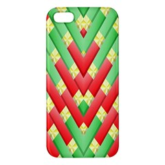 Christmas Geometric 3d Design Apple Iphone 5 Premium Hardshell Case by Onesevenart