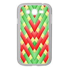 Christmas Geometric 3d Design Samsung Galaxy Grand Duos I9082 Case (white) by Onesevenart