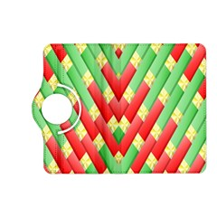 Christmas Geometric 3d Design Kindle Fire Hd (2013) Flip 360 Case by Onesevenart