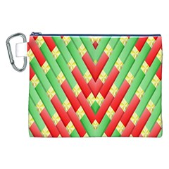 Christmas Geometric 3d Design Canvas Cosmetic Bag (xxl) by Onesevenart