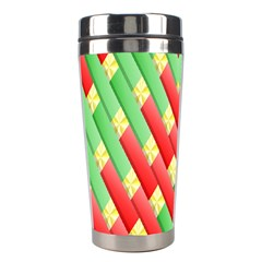 Christmas Geometric 3d Design Stainless Steel Travel Tumblers by Onesevenart