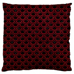 Scales2 Black Marble & Red Leather (r) Standard Flano Cushion Case (one Side) by trendistuff