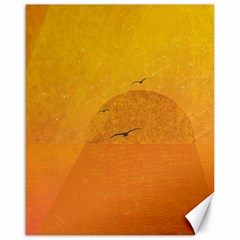 Sunset Canvas 16  X 20   by berwies