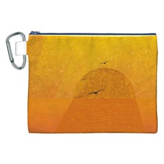 Sunset Canvas Cosmetic Bag (xxl) by berwies