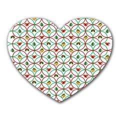 Christmas Decorations Background Heart Mousepads by Onesevenart