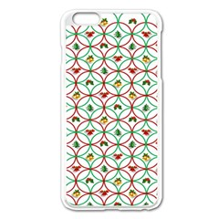 Christmas Decorations Background Apple Iphone 6 Plus/6s Plus Enamel White Case by Onesevenart