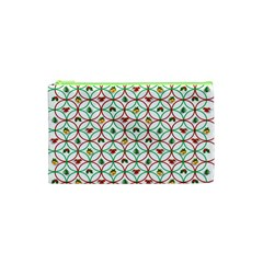 Christmas Decorations Background Cosmetic Bag (xs) by Onesevenart