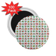 Christmas Decorations Background 2 25  Magnets (100 Pack)  by Onesevenart