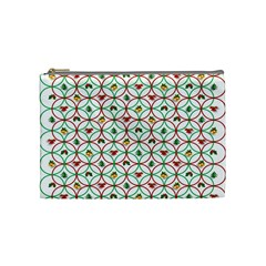 Christmas Decorations Background Cosmetic Bag (medium)  by Onesevenart