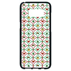 Christmas Decorations Background Samsung Galaxy S8 Black Seamless Case by Onesevenart