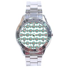 Christmas 3d Decoration Colorful Stainless Steel Analogue Watch by Onesevenart