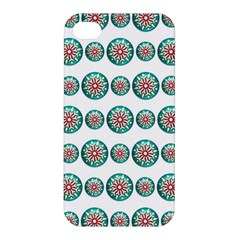 Christmas 3d Decoration Colorful Apple Iphone 4/4s Hardshell Case by Onesevenart
