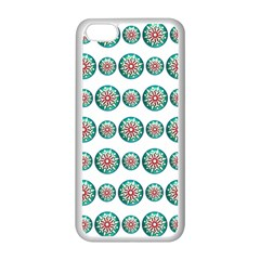Christmas 3d Decoration Colorful Apple Iphone 5c Seamless Case (white) by Onesevenart