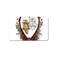 Christmas D¨|cor Decoration Winter Magnet (name Card) by Onesevenart
