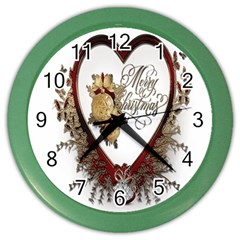 Christmas D¨|cor Decoration Winter Color Wall Clocks by Onesevenart