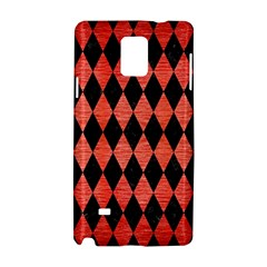 Diamond1 Black Marble & Red Brushed Metal Samsung Galaxy Note 4 Hardshell Case by trendistuff