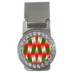 Christmas Geometric Background Money Clips (cz)  by Onesevenart