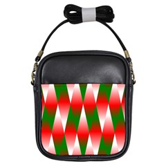 Christmas Geometric Background Girls Sling Bags by Onesevenart