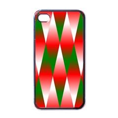 Christmas Geometric Background Apple Iphone 4 Case (black) by Onesevenart