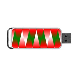 Christmas Geometric Background Portable Usb Flash (one Side) by Onesevenart