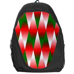 Christmas Geometric Background Backpack Bag by Onesevenart