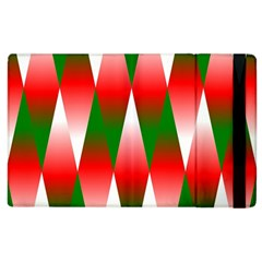 Christmas Geometric Background Apple Ipad 3/4 Flip Case by Onesevenart