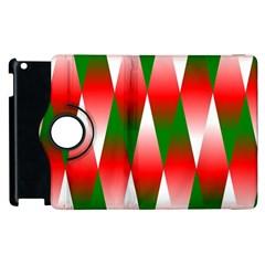 Christmas Geometric Background Apple Ipad 2 Flip 360 Case by Onesevenart