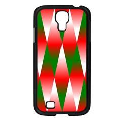Christmas Geometric Background Samsung Galaxy S4 I9500/ I9505 Case (black) by Onesevenart