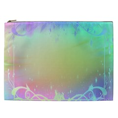 Christmas Greeting Card Frame Cosmetic Bag (xxl)  by Onesevenart
