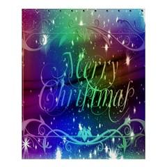 Christmas Greeting Card Frame Shower Curtain 60  X 72  (medium)  by Onesevenart