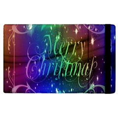 Christmas Greeting Card Frame Apple Ipad 3/4 Flip Case by Onesevenart