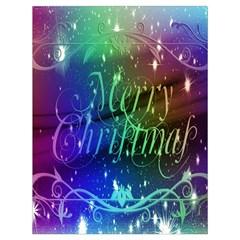 Christmas Greeting Card Frame Drawstring Bag (large) by Onesevenart