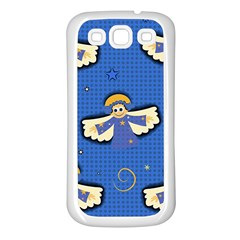 Christmas Holidays Seamless Pattern Samsung Galaxy S3 Back Case (white) by Onesevenart