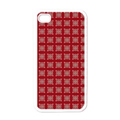 Christmas Paper Wrapping Paper Apple Iphone 4 Case (white) by Onesevenart