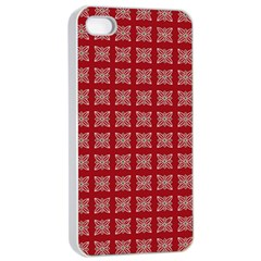 Christmas Paper Wrapping Paper Apple Iphone 4/4s Seamless Case (white) by Onesevenart