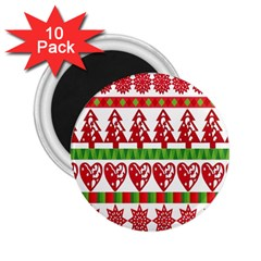 Christmas Icon Set Bands Star Fir 2 25  Magnets (10 Pack)  by Onesevenart