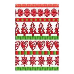 Christmas Icon Set Bands Star Fir Shower Curtain 48  X 72  (small)  by Onesevenart
