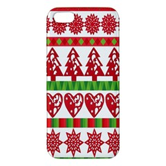 Christmas Icon Set Bands Star Fir Apple Iphone 5 Premium Hardshell Case by Onesevenart