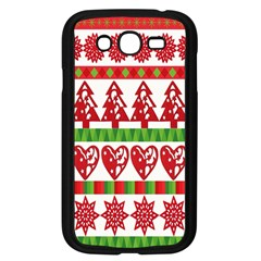 Christmas Icon Set Bands Star Fir Samsung Galaxy Grand Duos I9082 Case (black) by Onesevenart