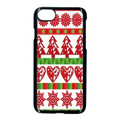 Christmas Icon Set Bands Star Fir Apple Iphone 7 Seamless Case (black) by Onesevenart