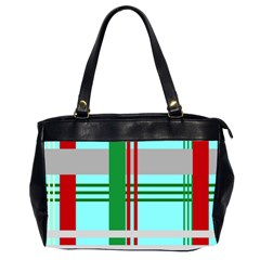 Christmas Plaid Backgrounds Plaid Office Handbags (2 Sides)  by Onesevenart