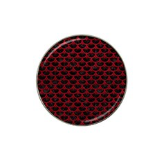 Scales3 Black Marble & Red Leather (r) Hat Clip Ball Marker (10 Pack) by trendistuff