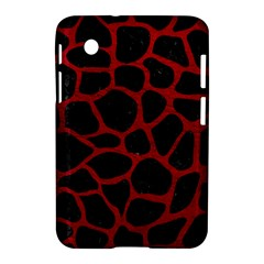 Skin1 Black Marble & Red Leather Samsung Galaxy Tab 2 (7 ) P3100 Hardshell Case  by trendistuff