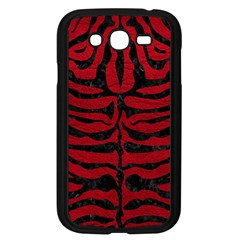 Skin2 Black Marble & Red Leather Samsung Galaxy Grand Duos I9082 Case (black) by trendistuff