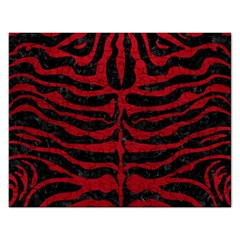 Skin2 Black Marble & Red Leather (r) Rectangular Jigsaw Puzzl by trendistuff