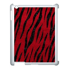 Skin3 Black Marble & Red Leather Apple Ipad 3/4 Case (white) by trendistuff