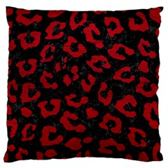Skin5 Black Marble & Red Leather Standard Flano Cushion Case (one Side) by trendistuff