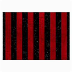 Stripes1 Black Marble & Red Leather Large Glasses Cloth by trendistuff