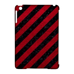 Stripes3 Black Marble & Red Leather (r) Apple Ipad Mini Hardshell Case (compatible With Smart Cover) by trendistuff