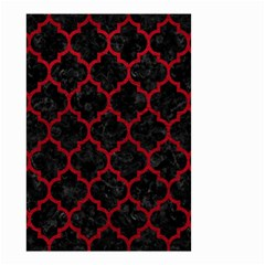 Tile1 Black Marble & Red Leather (r) Small Garden Flag (two Sides) by trendistuff